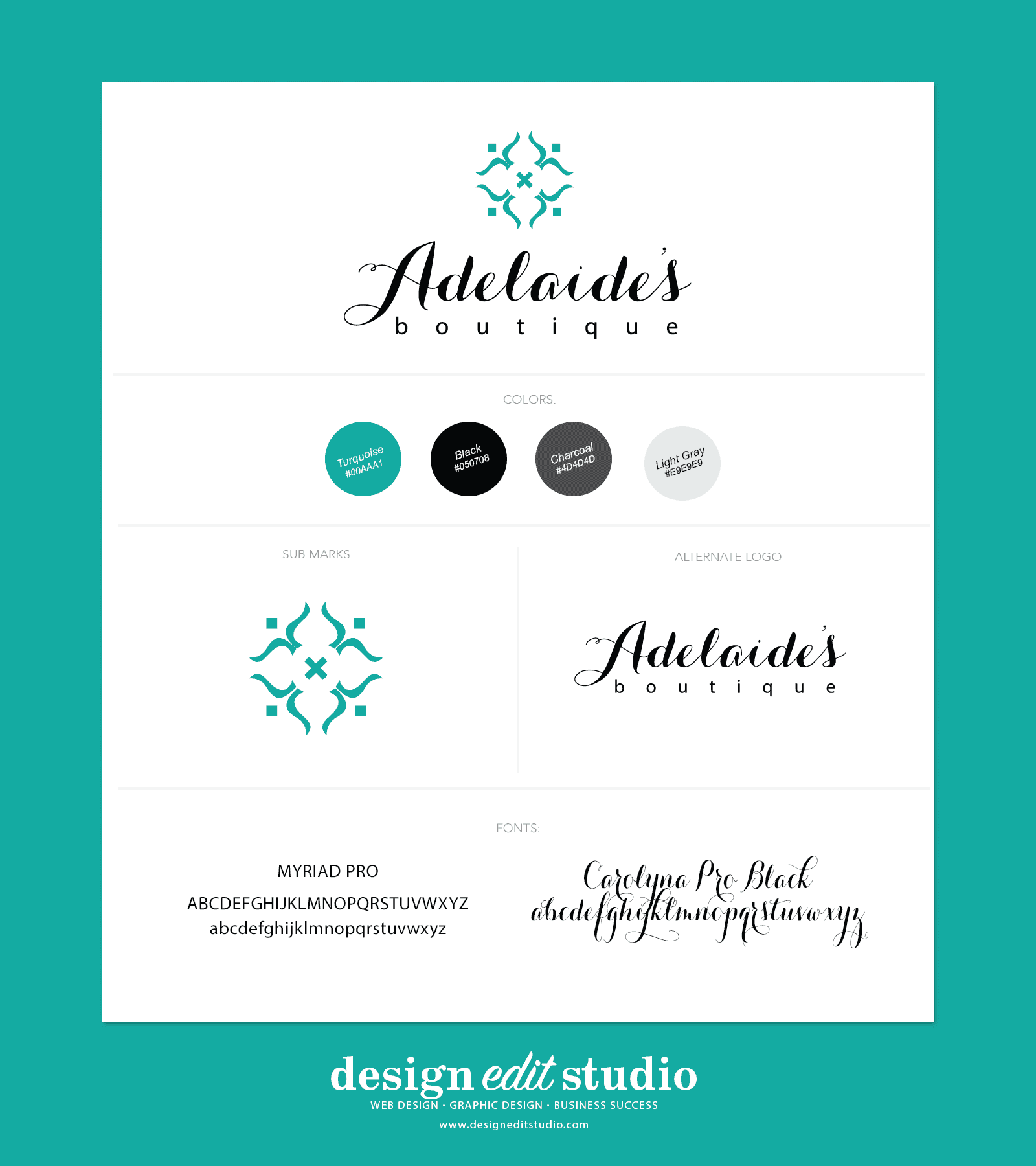 Adelaide's boutique brand board