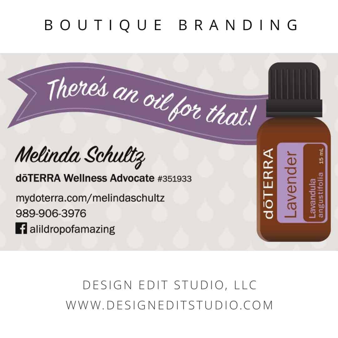 Custom dōTERRA wellness advocate business card design