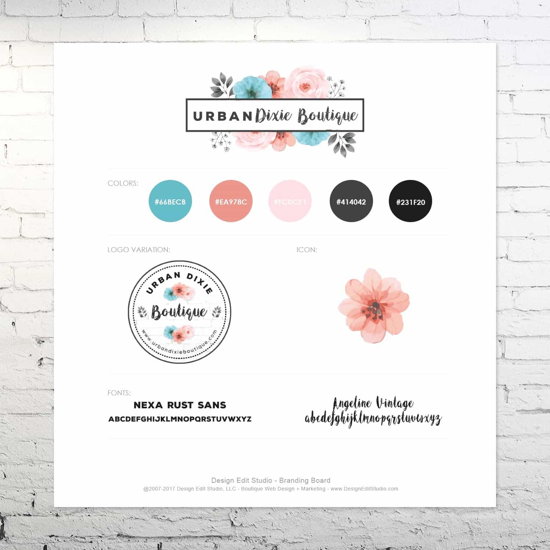 Boutique Custom Design Branding Board