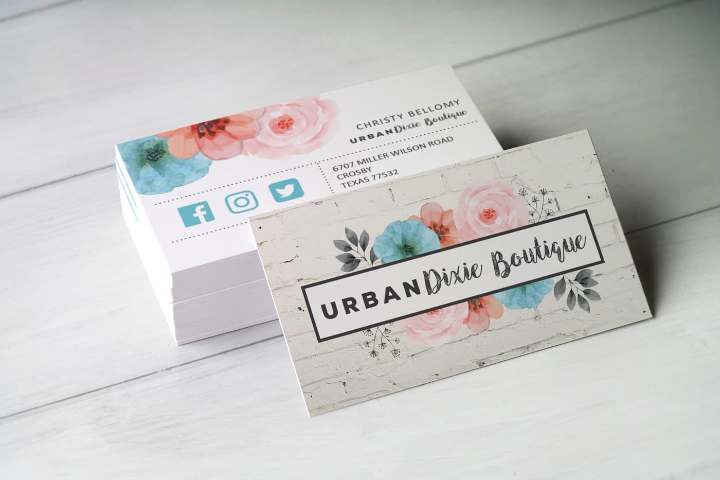 Urban Dixie Boutique Business Card Design