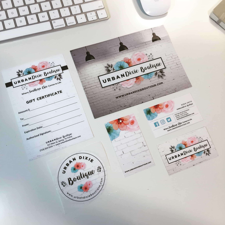 Boutique Custom Design Print Materials