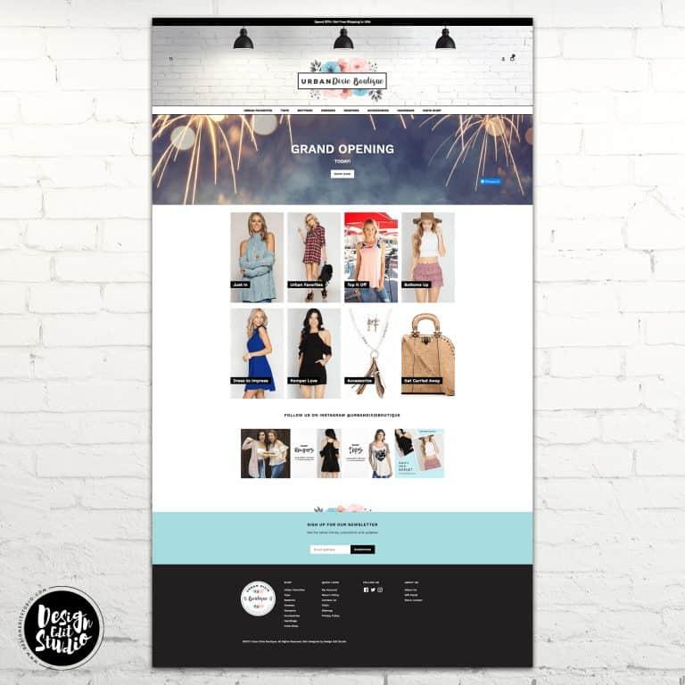 Urban Dixie Boutique Custom Shopify Design